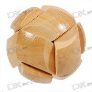 Wooden Ball Shaped Pull-Apart IQ Puzzle