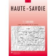 Fietskaart - Topografische kaart - Wegenkaart - landkaart 45 Haute-Savoie   Swisstopo