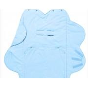 Wallaboo - Одеалце с форма на цвете синьо