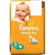 Pampers Simply Dry 3 für 4-9 kg 45 Stk
