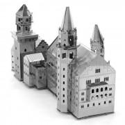 Metalica Nano Castillo de Neuschwanstein 3D Puzzle bricolaje juguete Jigsaw - plata