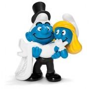 Schleich Bride and Groom Smurf Toy Figure