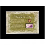 American Coin Treasures Mother's Day Celebration Frame with Stamp and Coin