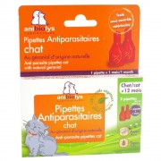 anibiolys pipettes antiparasitaires chat + 12 mois