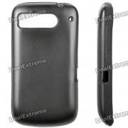 Protection Silicone + aluminium retour housse pour HTC DESIRE S/G12/S510E/G7S - noir