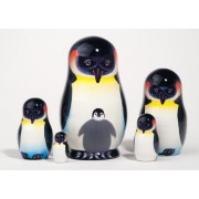 "Emperor Penguin Nesting Doll 5pc./5"""