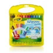 Crayola Window Marker and Stencil Set, 25 Mini Window Markers by Crayola