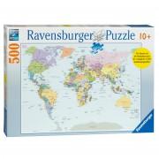 Legpuzzel Wereldkaart 500 stukjes CITO   Ravensburger