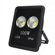 Proiector LED 100W Alb Rece 220V 2x50W