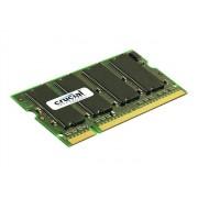 Crucial - DDR - 1 Go - SO DIMM 200 broches - 400 MHz / PC3200 - CL3 - 2.5 V - mémoire sans tampon - non ECC