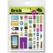 Reusable removable and restickable cling decals-Compatible with smooth plastic bricks-Brick. Stick. Restick. Build you