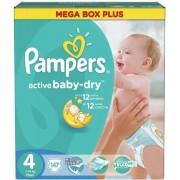 Scutece PAMPERS Active Baby 4 Mega Box Plus 147 buc