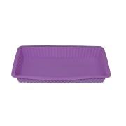 Forma lila dreptunghiulara din silicon pentru prajituri