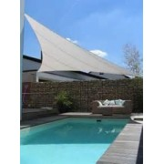 Toldo para jardin playa piscina color blanco tipo vela 36m