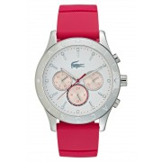 Lacoste CHARLOTTE Horloge silvercoloured/pink