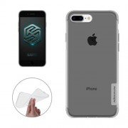 NILLKIN Nature TPU Case for iPhone 7 Plus Stylish 0.6mm Ultrathin Clear Color Soft Protective Case Back Cover(Grey)