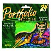 Crayola PortFolio Series Water-Soluble Oil Pastels 24-Color Set (52-3624)