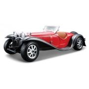 Bburago - 22027 - Voiture Sans Pile - Reproduction - Bugatti Type 55 1932 - Échelle 1/24