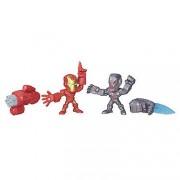Marvel - Super Hero mashers Micro - Iron Man Vs. Ultron - 2 figuras personalizables 5 cm