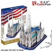 3D Puzzle of St. Patrick`s Cathedral New York City USA Cubic Fun 117pcs