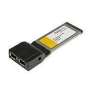 StarTech.com Ethernet ExpressCard EC13942A2, Alámbrico, 400 Mbit/s, con 2 Puertos Firewire