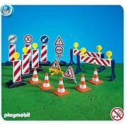 Playmobil Construction Site Signs