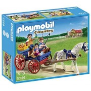 Playmobil - 5226 - Jeu de Construction - Calèche avec Famille