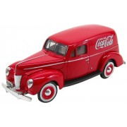 Motor City Classics 1940 Ford Delivery Panel Van (1:24 Scale), Red