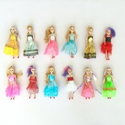 "Barbie Doll Play-set for Barbie Princess Birthday Party Favor and Supplies 6"" Dolls (12 Ct)"