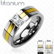 Titanové snubní prsteny PNT-0022