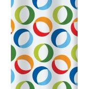 Zavesa za kadu Rings Multikolor 10.15185 PVC 180x200cm – Spirella