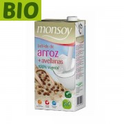 Lapte orez cu alune padure Monsoy (fara gluten) BIO- 1 litru