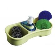 Dispenser sapun lichid cu suport burete-Mustar