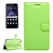 Huawei P8 Lite (2017) & P9 Lite (2017) & Honor 8 Lite Litchi Texture Horizontal Flip Leather Case with Magnetic Buckle & Holder & Card Slots & Wallet (Green)