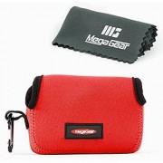 MegaGear ''Ultra Light'' Neoprene Camera Case Bag with Carabiner for Canon PowerShot G7X Canon PowerShot G7 X Mark II Cameras (Red)