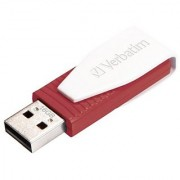 Verbatim 16GB Store 'n' Go Swivel USB 2.0 Flash Drive Red 49814