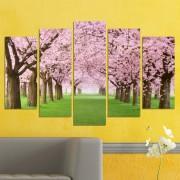 Декоративeн панел за стена с пролетна импресия в розово Vivid Home