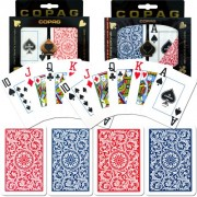 Copag Poker and Bridge Jumbo Index Set Of 2 Cards (Blue/Red)