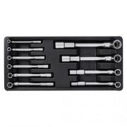 Vložka do zásuvky-klíče nátrčné 7-19mm, 10ks CrV