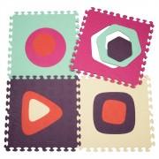 Covoras puzzle cu forme geometrice B.Toys
