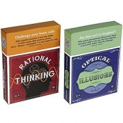 Rational Thinking And Optical Illusions Puzzles _ Coffee Table Brain Teaser Card Sets _ 50 Cards Per Deck _ Two Decks _B