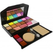 TYA 12Eyeshadow::3Blusher::1CompactPowder::3Lipcolor::1Puff::1Mirror(Pack of 1)
