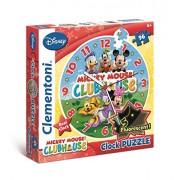 Clementoni - 23018.1 - Puzzle Horloge - 96 pièces - Mickey Mouse