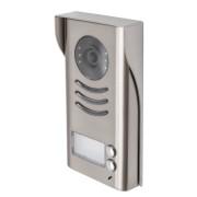 Panou video color de apel exterior DT592C-RH , cu protector de ploaie si montare aplicata Carcasa metalica 2 butoane de apel IP45; compatibil cu posturile interioare pe 2 fire; camera CCD color