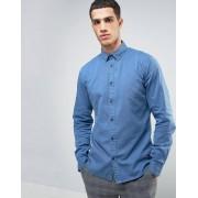 Solid Джинсовая рубашка классического кроя с эффектом выцветания Solid
