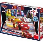 Puzzle - Cars in cursa de noapte 24 piese