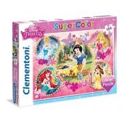 Clementoni 20134 - Puzzle Princess, Glitter, 104 Pezzi, Multicolore