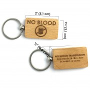 Jehovah's Witnesses No Blood Key Ring