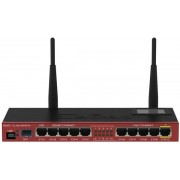 Router Wireless MikroTik RB2011UiAS-2HnD-IN, 128MB RAM, 5xLAN, 5xGigabit LAN, 1xSFP, LCD, 2.4GHz