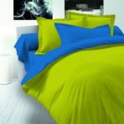 Спално бельо Ранфорс Зелен - Синьо